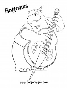 Bottomus Coloring Page