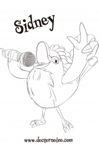 Sidney Coloring Page