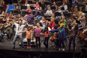 Kids Come Onstage With The Juneau Symphony