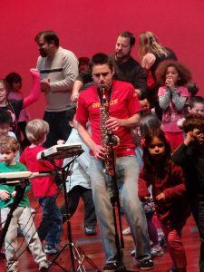 Playing Saxophone Live
